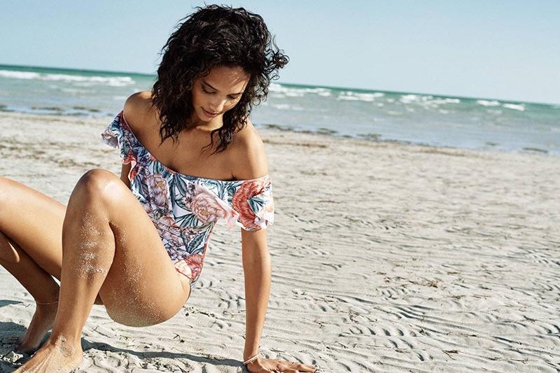 H&M Off-the-Shoulder Swimsuit