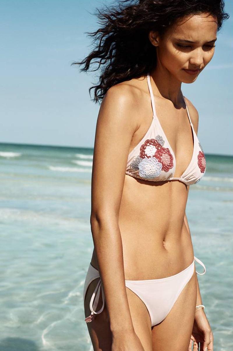 H&M Triangle Bikini Top and Tie Bikini Bottoms