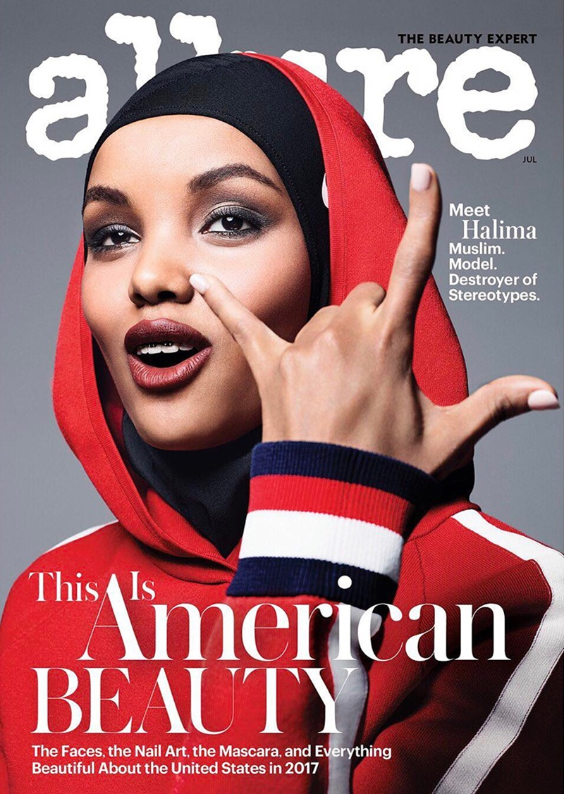 Halima Aden on Allure Magazine July 2017 Cover