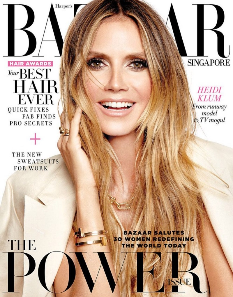 Heidi Klum on Harper's Bazaar Singapore July 2017 Cover