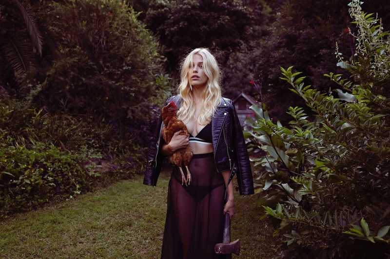 Silk Organza Skirt George Wu, Bralette Love Stories Intimates from Unplugged Byron Bay; Jacket and Briefs stylist's own
