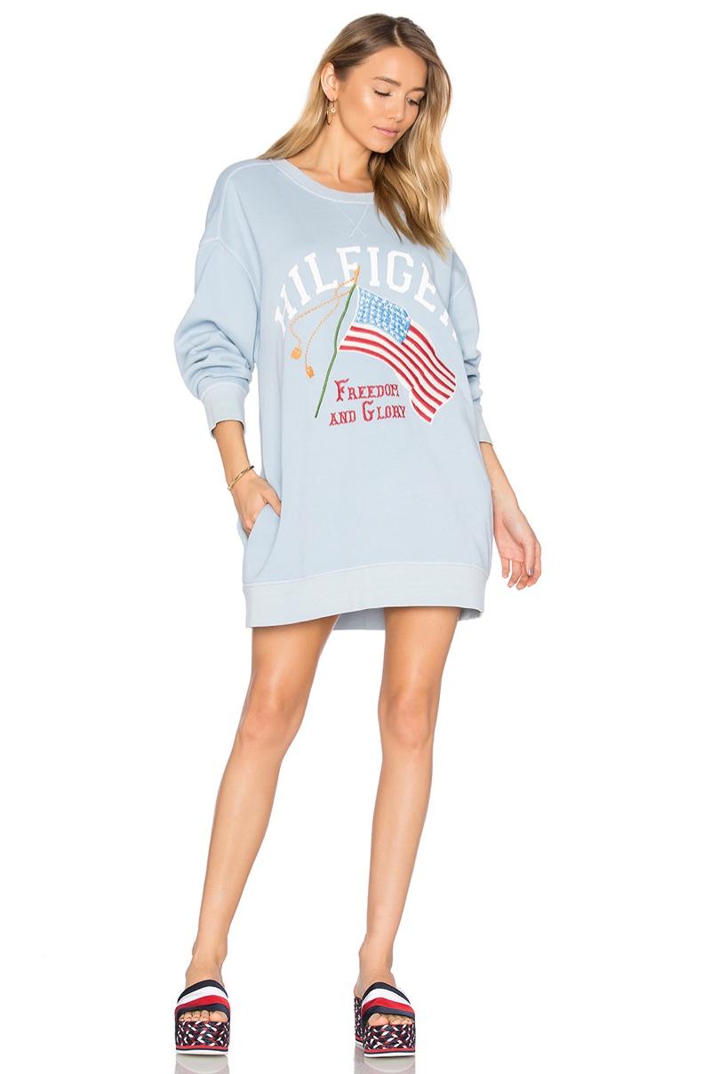 Hilfiger Collection Patchwork Flag Sweatshirt $288