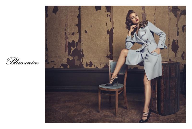 Irina Shayk stars in Blumarine's fall-winter 2017 campaign