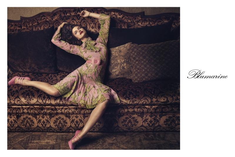Irina Shayk embraces florals in Blumarine's fall-winter 2017 campaign