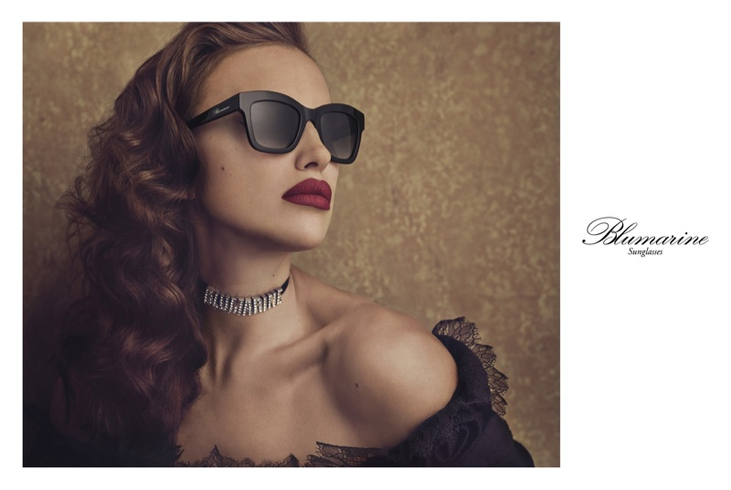 Irina Shayk stars in Blumarine's fall-winter 2017 Eyewear campaign