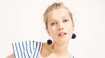 Toni Garrn Models J. Crew's Statement Earrings for Summer