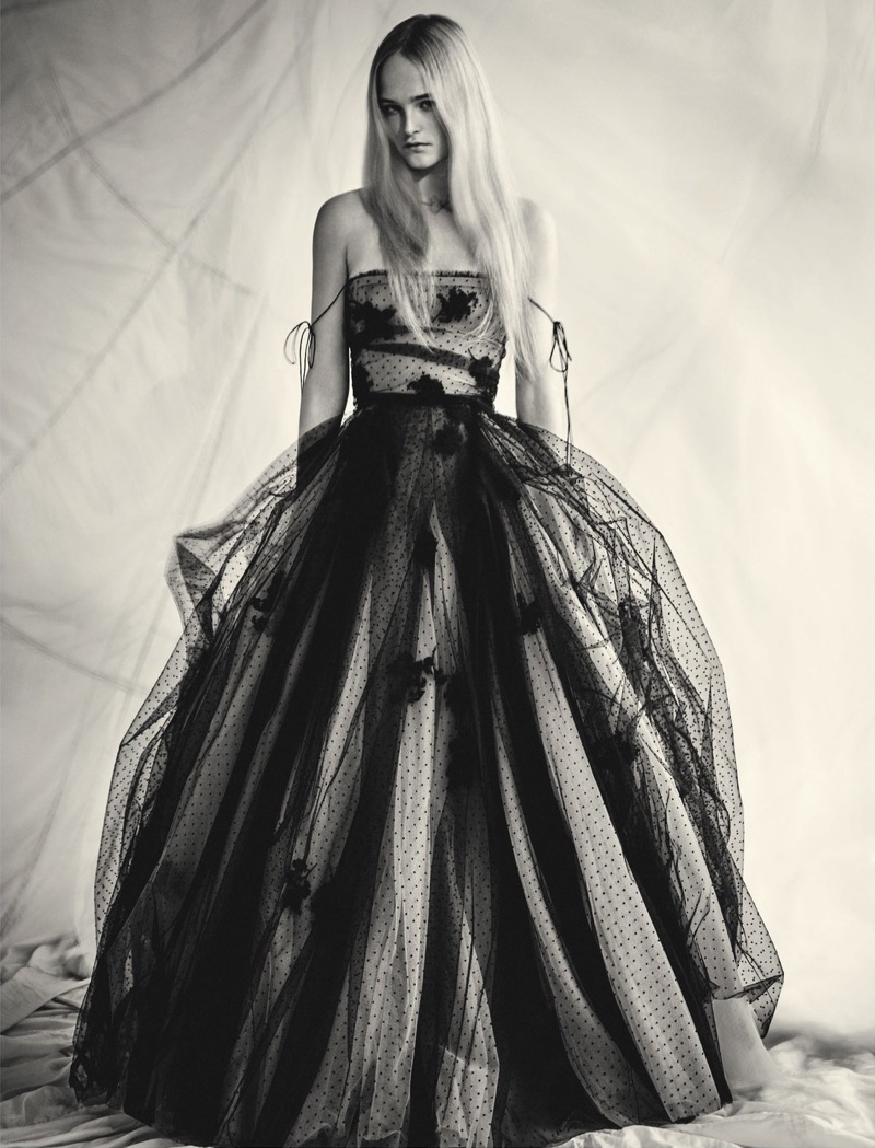 Jean Campbell is an Enchanting Vision in Haute Couture for Dior Magazine
