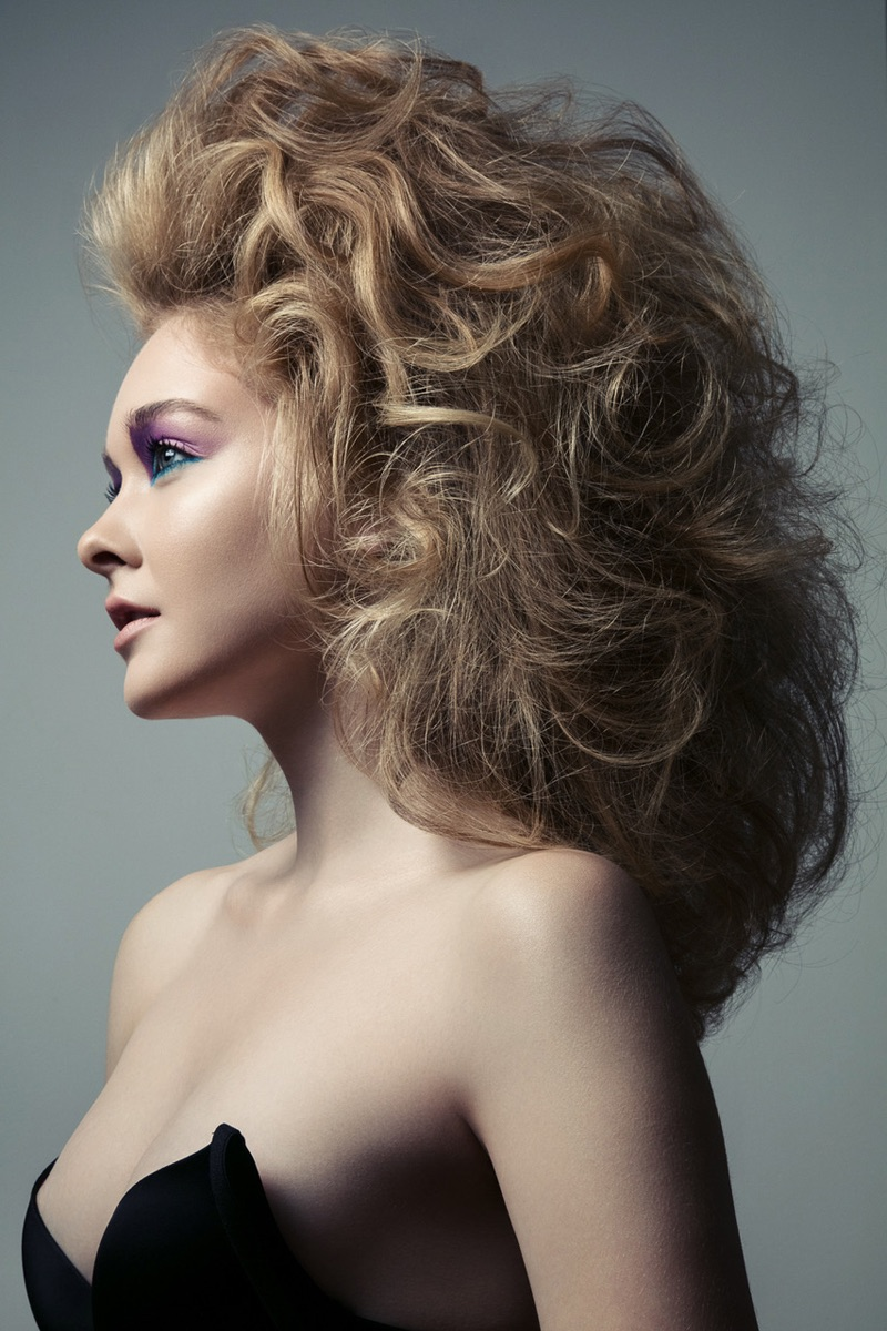 Nicole Keimig shows off teased coif. Photo: Jeff Tse