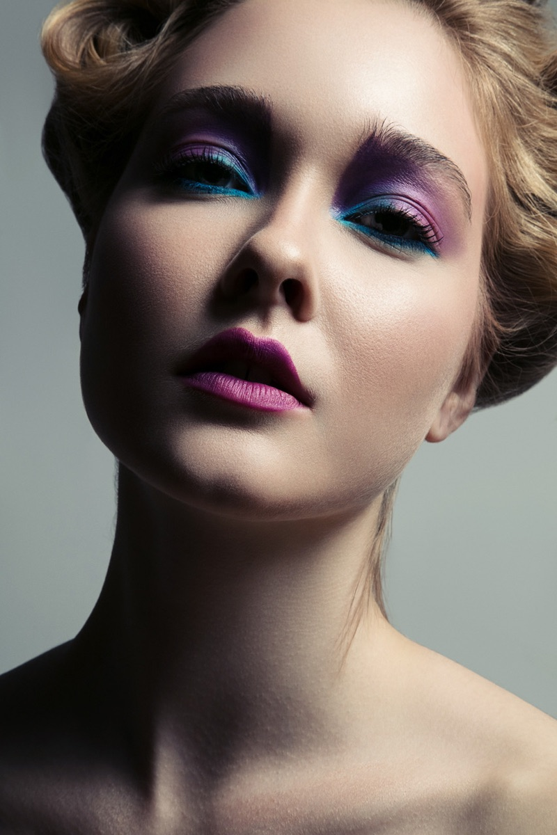 Getting her closeup, Nicole Keimig wears jewel toned makeup. Photo: Jeff Tse
