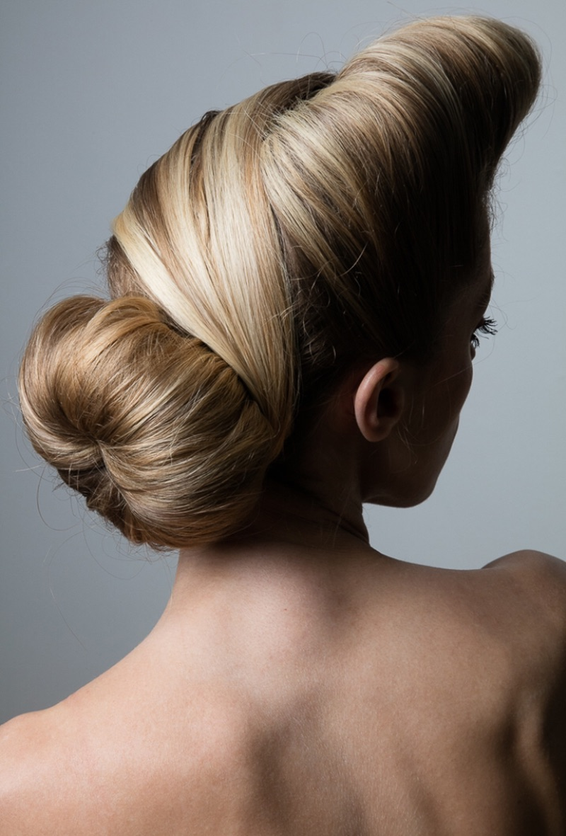 Jeff Tse photographs chic chignon hairstyle