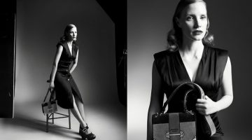 Jessica Chastain Stuns in Black & White for Prada's Fall 2017 Campaign