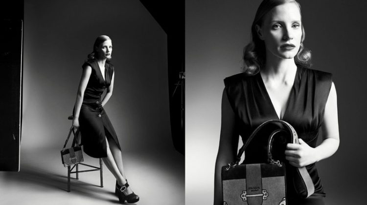 Jessica Chastain stars in Prada's fall-winter 2017 campaign