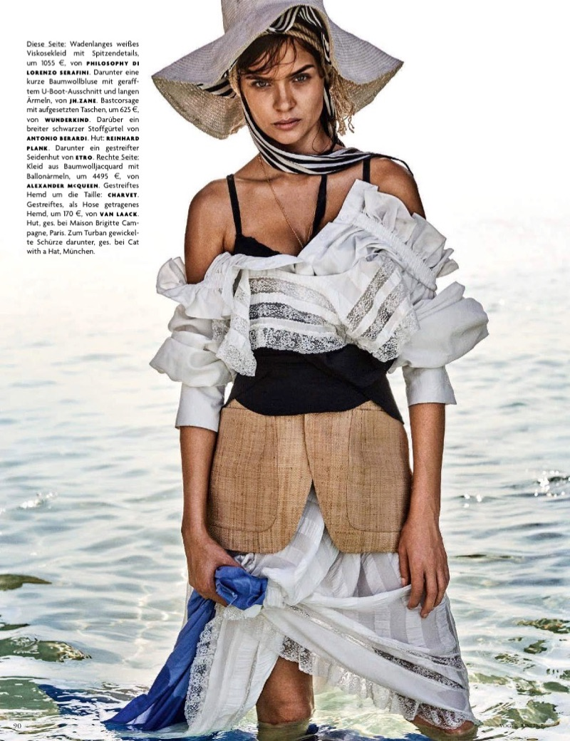 Josephine Skriver Wears Rustic Looks for Vogue Germany