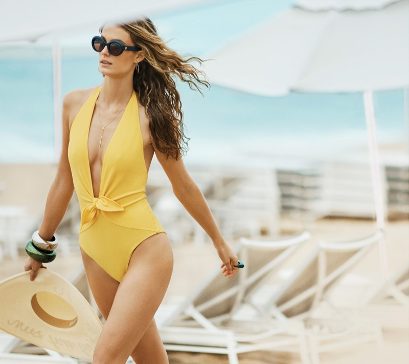 Kate Bock Sizzles in Swimsuit Style for Ocean Drive