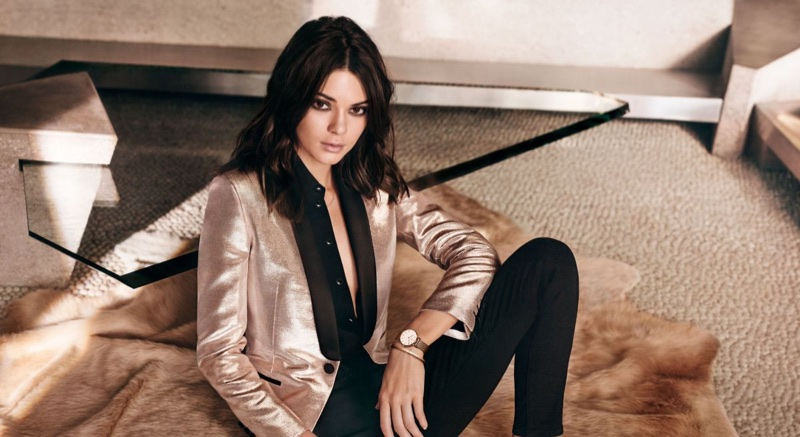 An image from Daniel Wellington Watches campaign starring Kendall Jenner