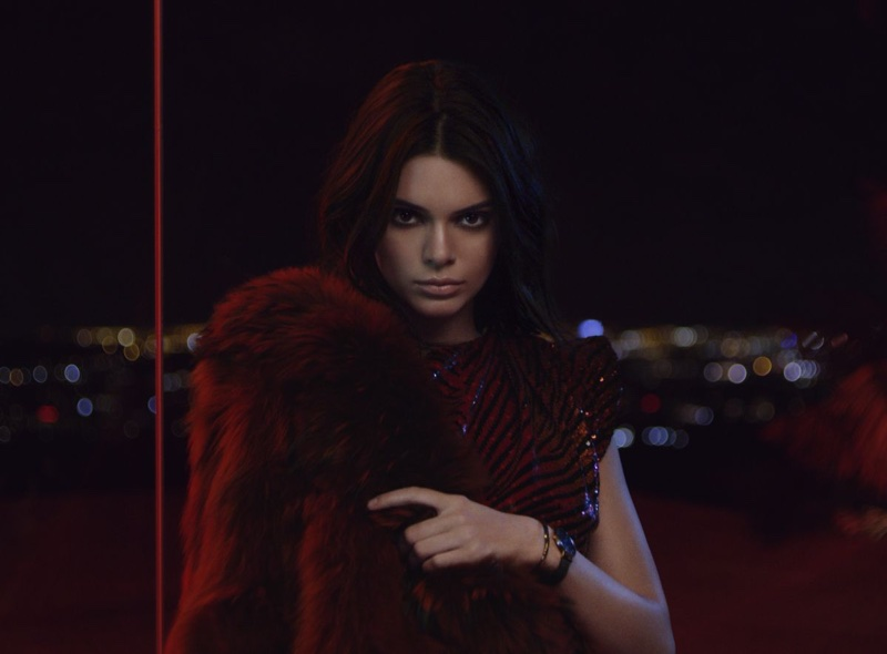 Model Kendall Jenner poses in Daniel Wellington campaign
