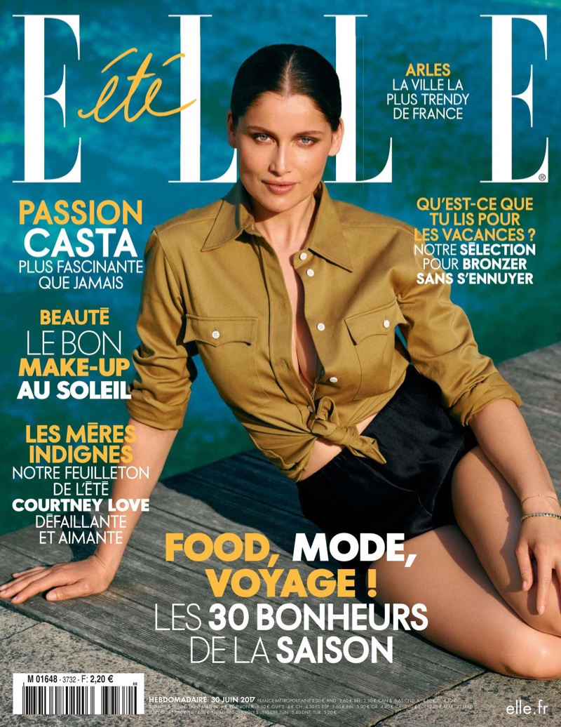Laetitia Casta on ELLE France June 30th, 2017 Cover