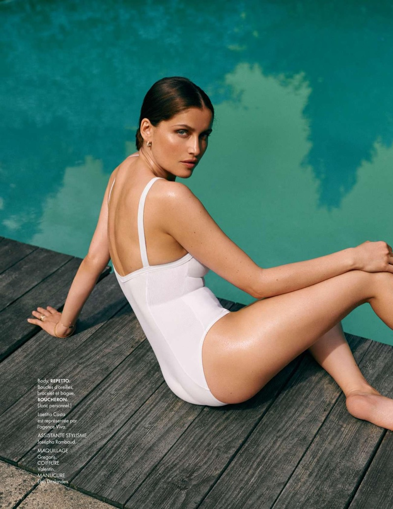 Laetitia Casta Charms in Summer Fashions for ELLE France