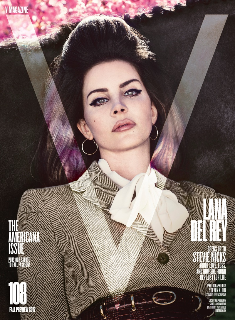 Lana Del Rey on V Magazine Fall Preview 2017 Cover