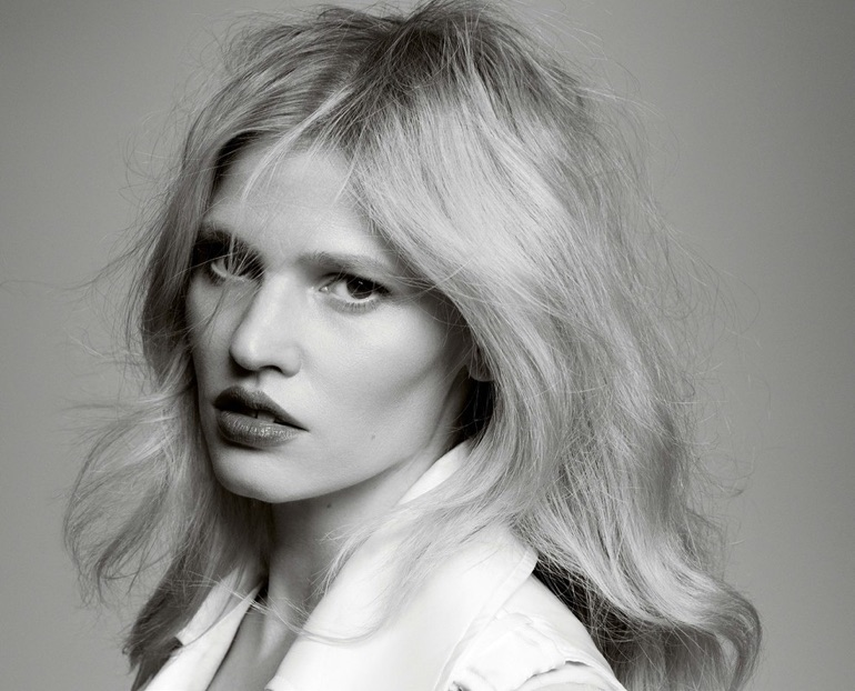 Lara Stone Wears Minimal Styles in Intermission Magazine