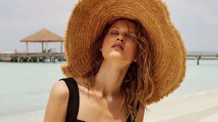 Laura Julie Models Vacation-Season Styles for Harper's Bazaar Russia