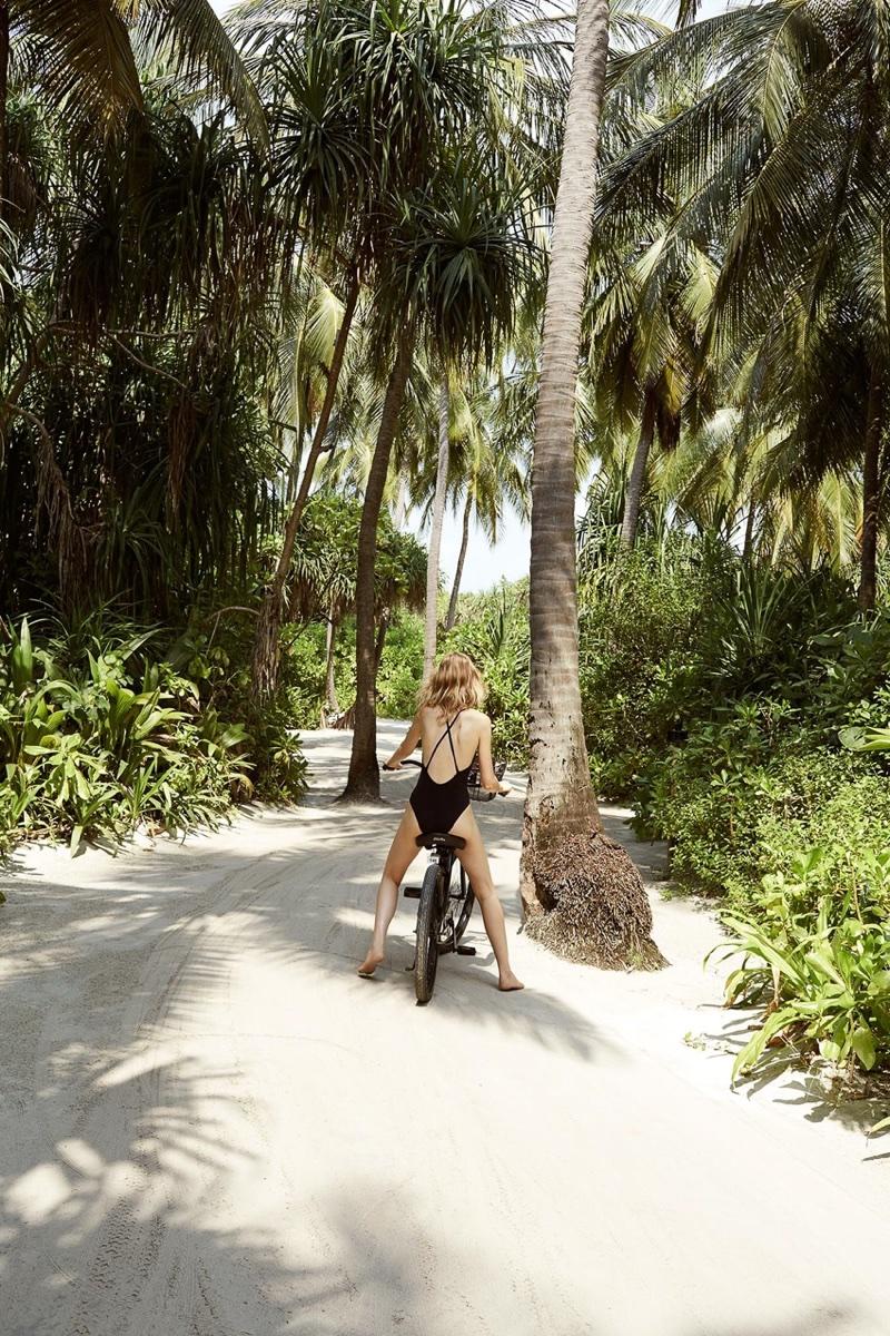 Laura Julie Models Vacation-Season Styles for Harper's Bazaar Russia