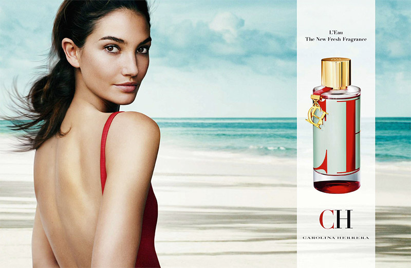 Lily Aldridge fronts the new CH by Carolina Herrera fragrance campaign