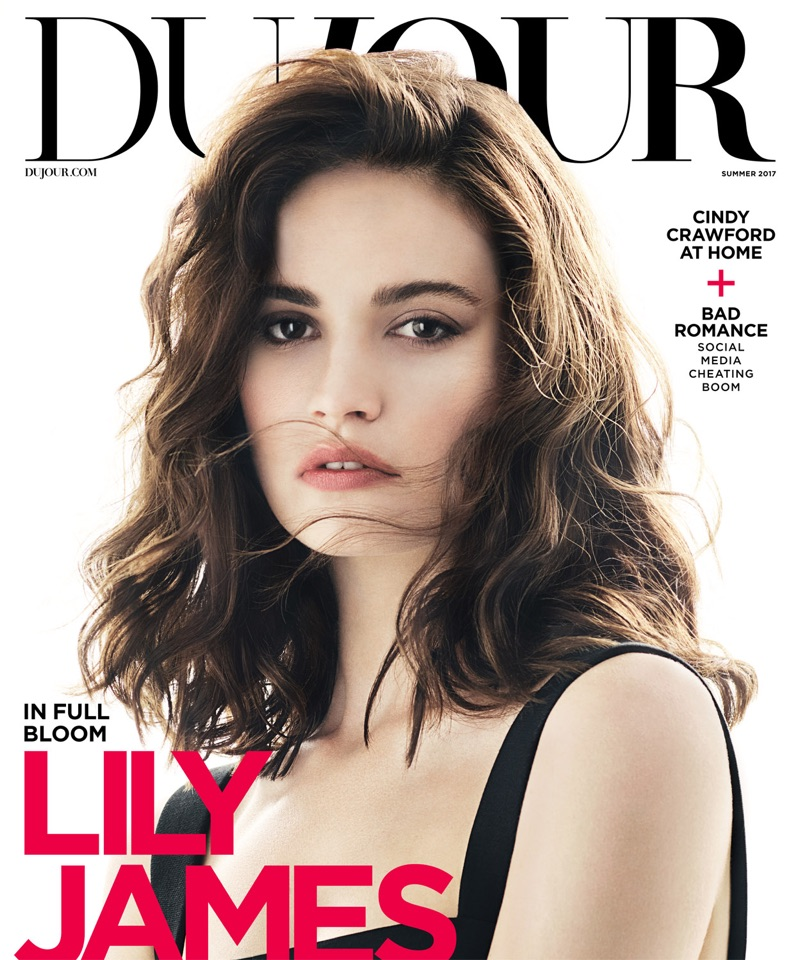 Lily James on DuJour Magazine Summer 2017 Cover