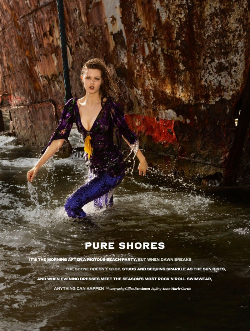 Lindsey Wixson stars in ELLE UK's June issue