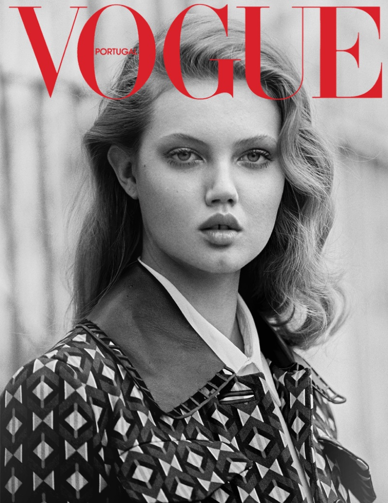 Photographed by An Le, Lindsey Wixson poses on the streets of New York for the fashion editorial