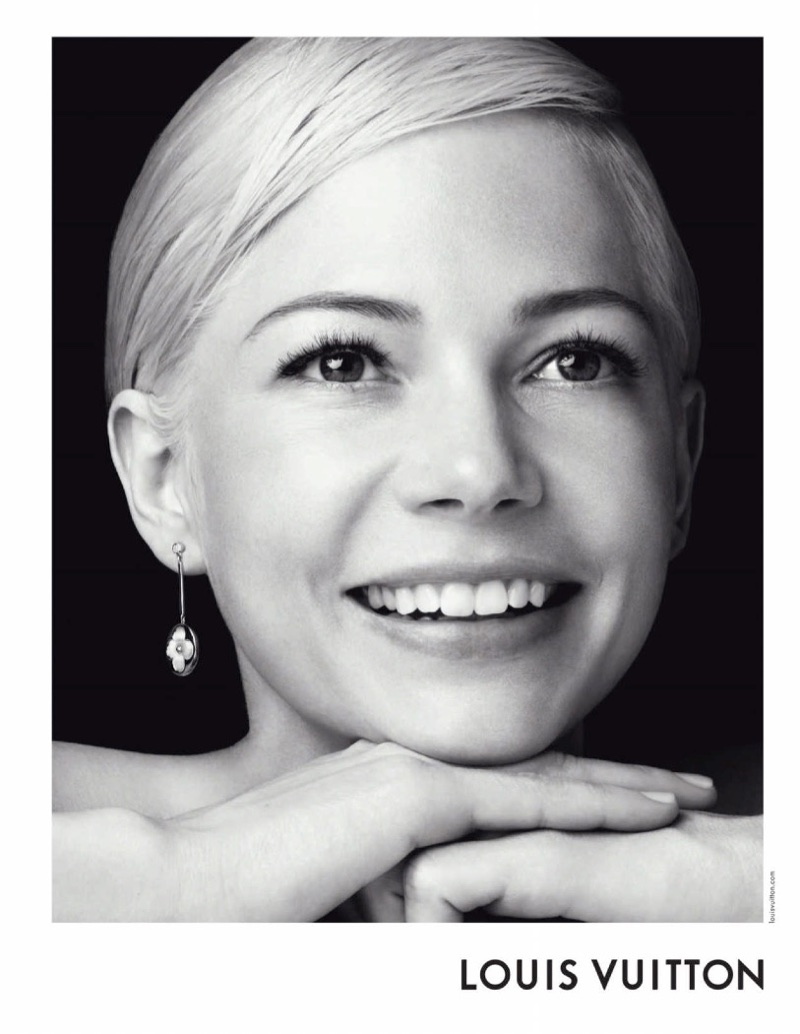 Michelle Williams flashes a smile in Louis Vuitton's recent jewelry campaign