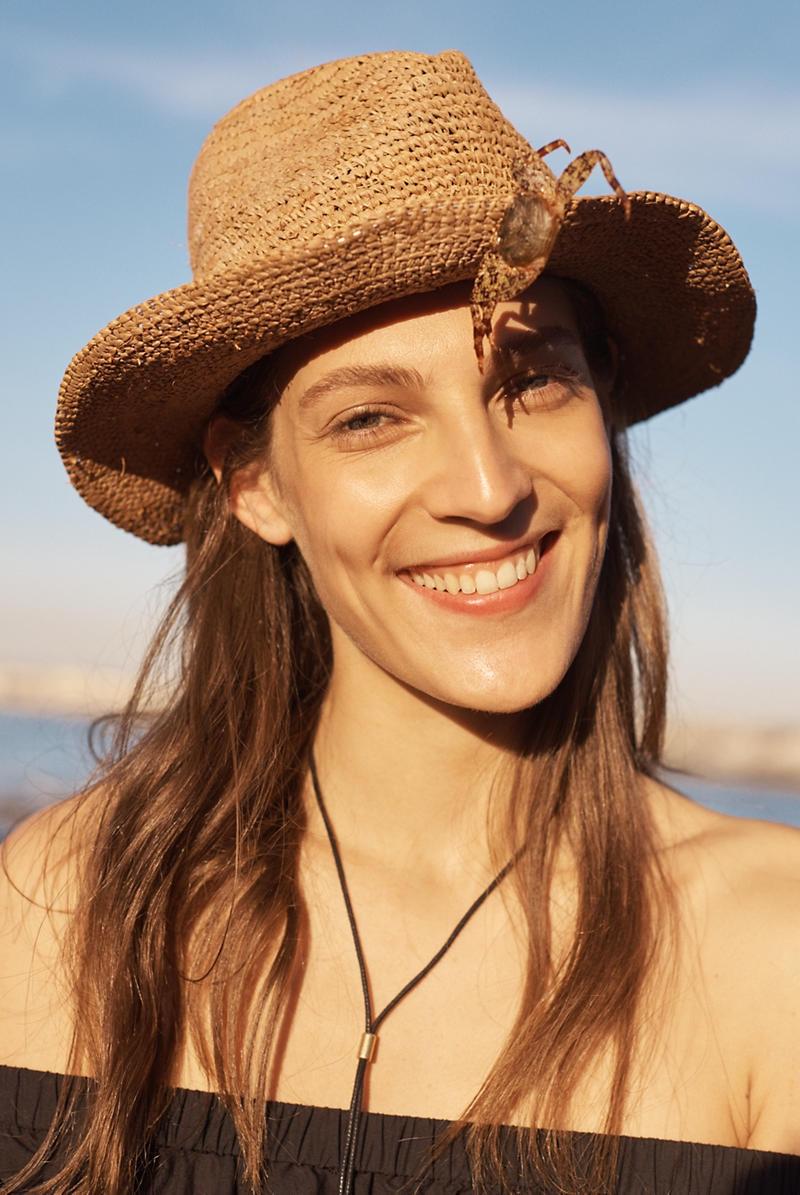 Madewell Pom-Pom Straw Fedora Hat