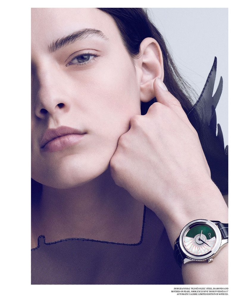 As Time Goes By: Marie Damian Models Luxe Watches for Dior Magazine