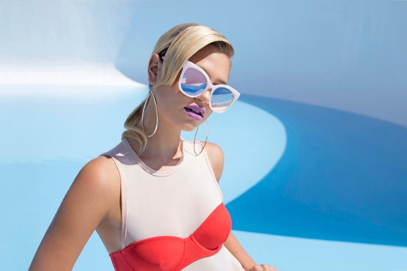 MELT Marble Square Sunglasses $28.00