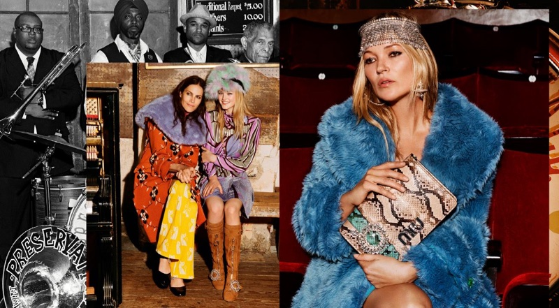 Kate Moss appears in Miu Miu's fall-winter 2017 campaign
