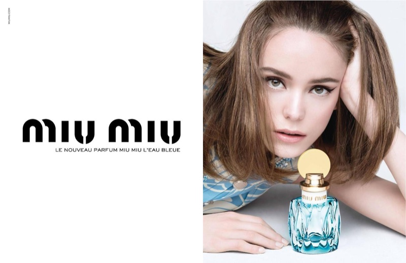 Miu Miu launches new fragrance L'Eau Bleue with this advertisement