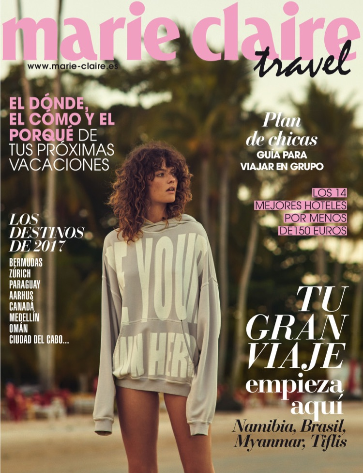 Montana Cox on Marie Claire Spain June 2017 Travel Cover