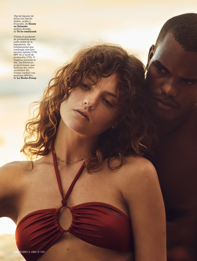 Montana Cox Models Glam Beach Styles in Marie Claire Spain