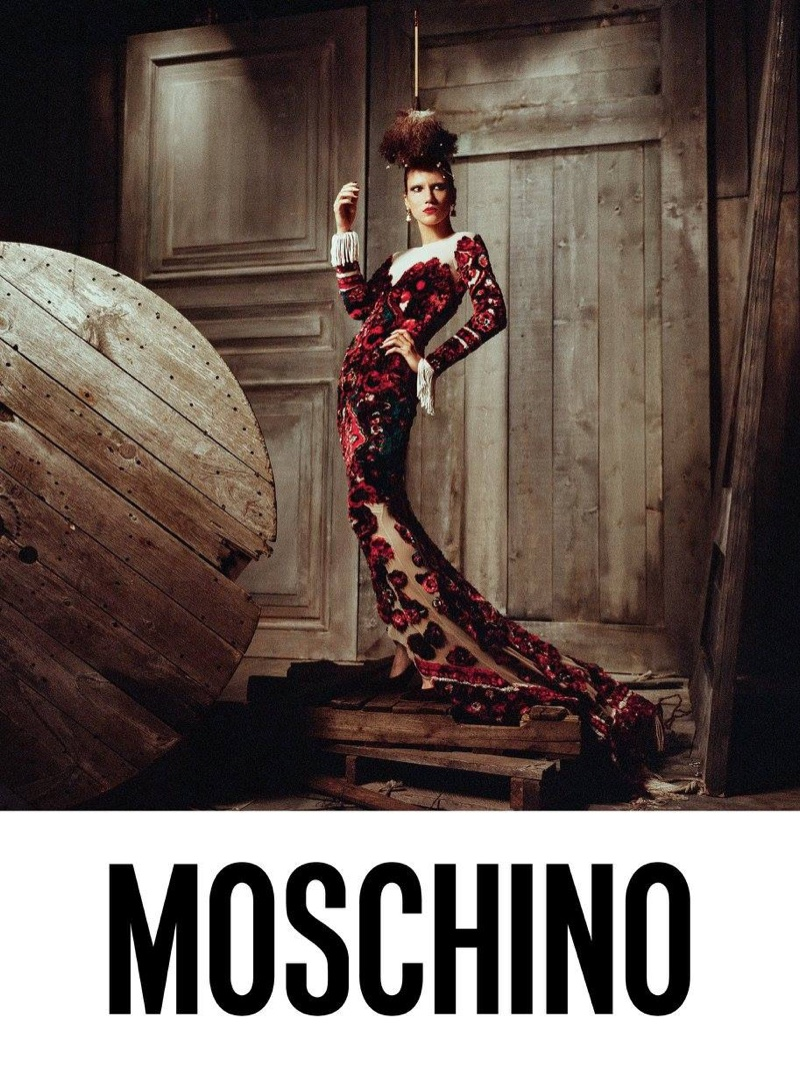Tamy Glauser fronts Moschino's fall-winter 2017 campaign