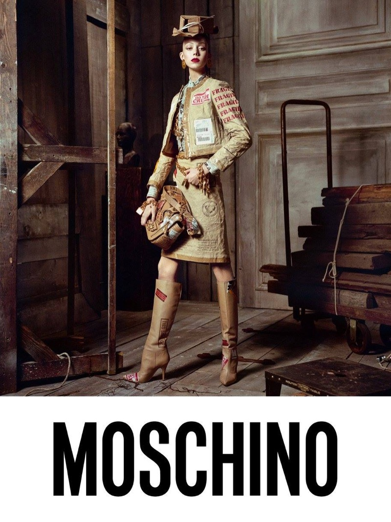 Natalie Westling stars in Moschino's fall-winter 2017 campaign