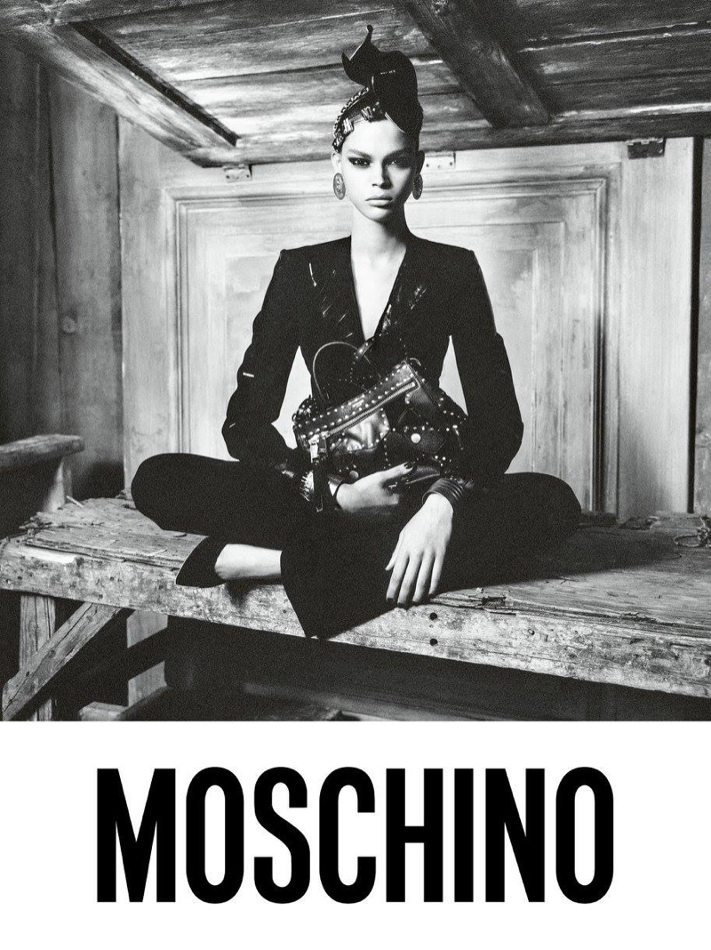 Hiandra Martinez stars in Moschino's fall-winter 2017 campaign