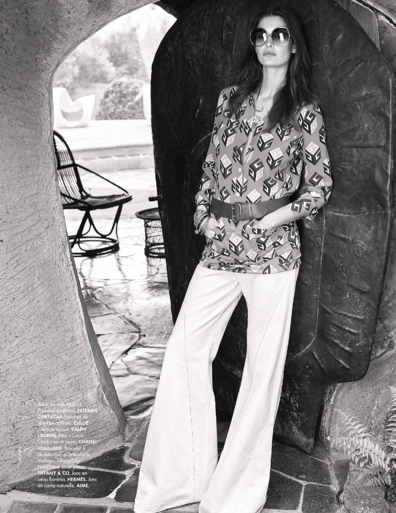 Ophelie Guillermand Models Hippie Chic Looks for ELLE France