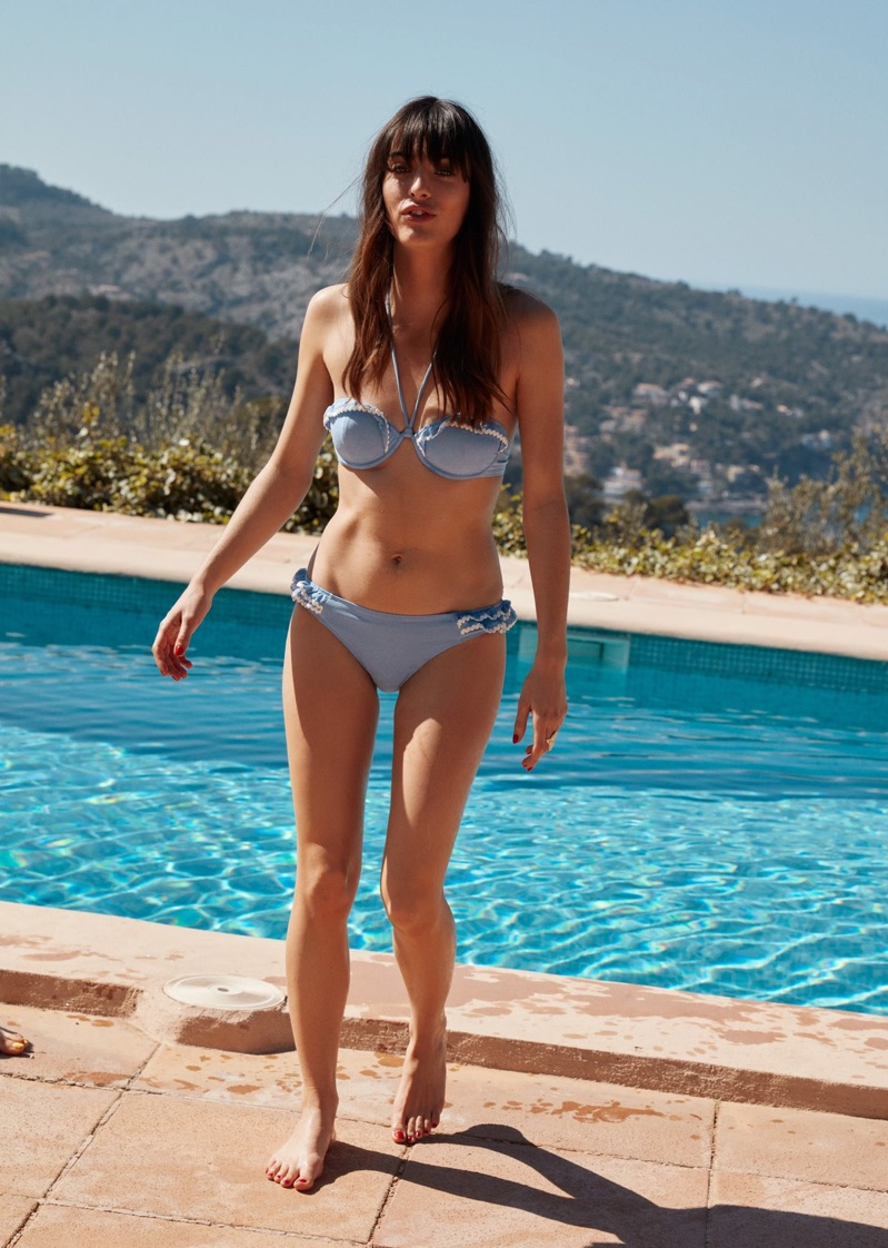 & Other Stories Frill Wire Bikini Top and Frill Briefs