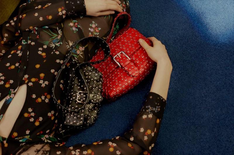Studded handbags take the spotlight in RED Valentino's pre-fall 2017 campaign