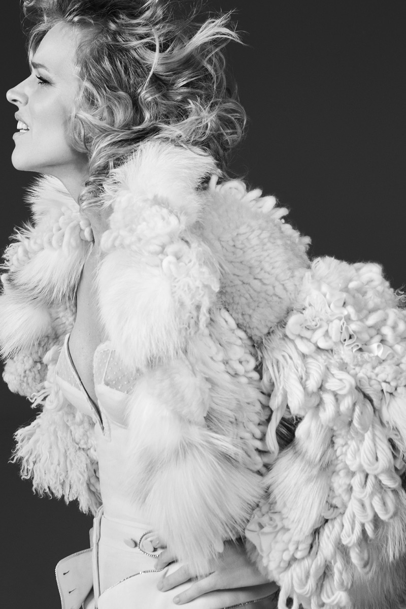 An image from Roberto Cavalli's fall 2017 advertising campaign featuring Eva Herzigova