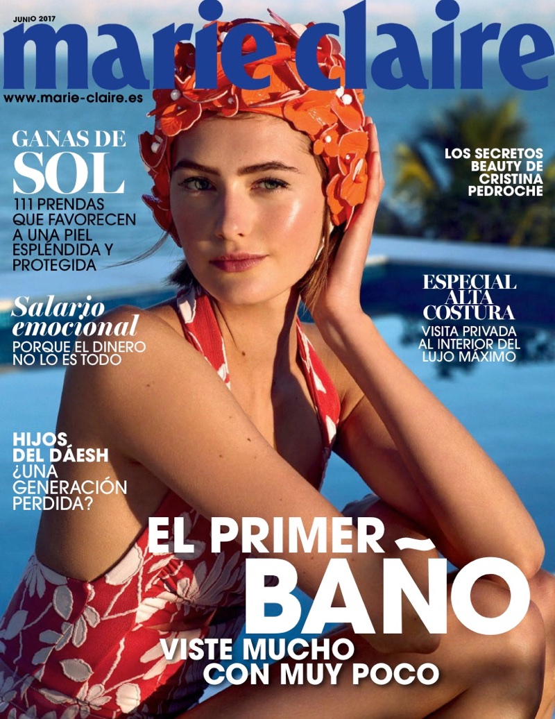 Sanne Vloet on Marie Claire Spain June 2017 Cover