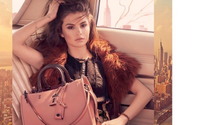Singer Selena Gomez appears in Coach's fall-winter 2017 campaign