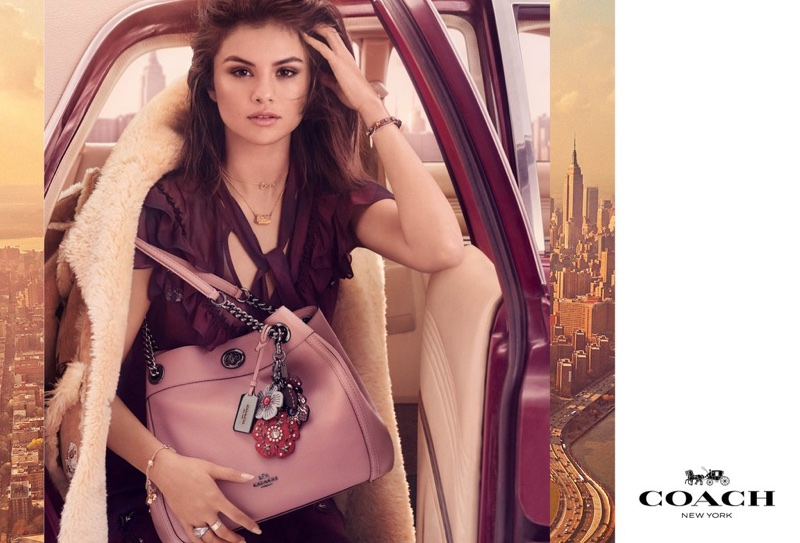 An image from Coach's fall 2017 advertising campaign starring Selena Gomez