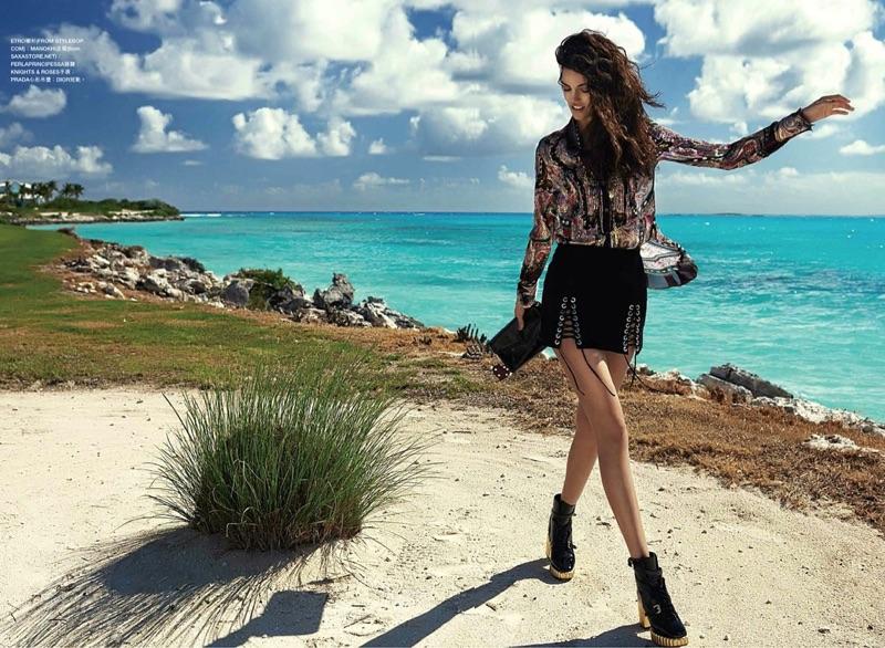 Sofia Resing Stuns in Summer Styles for Harper's Bazaar Hong Kong