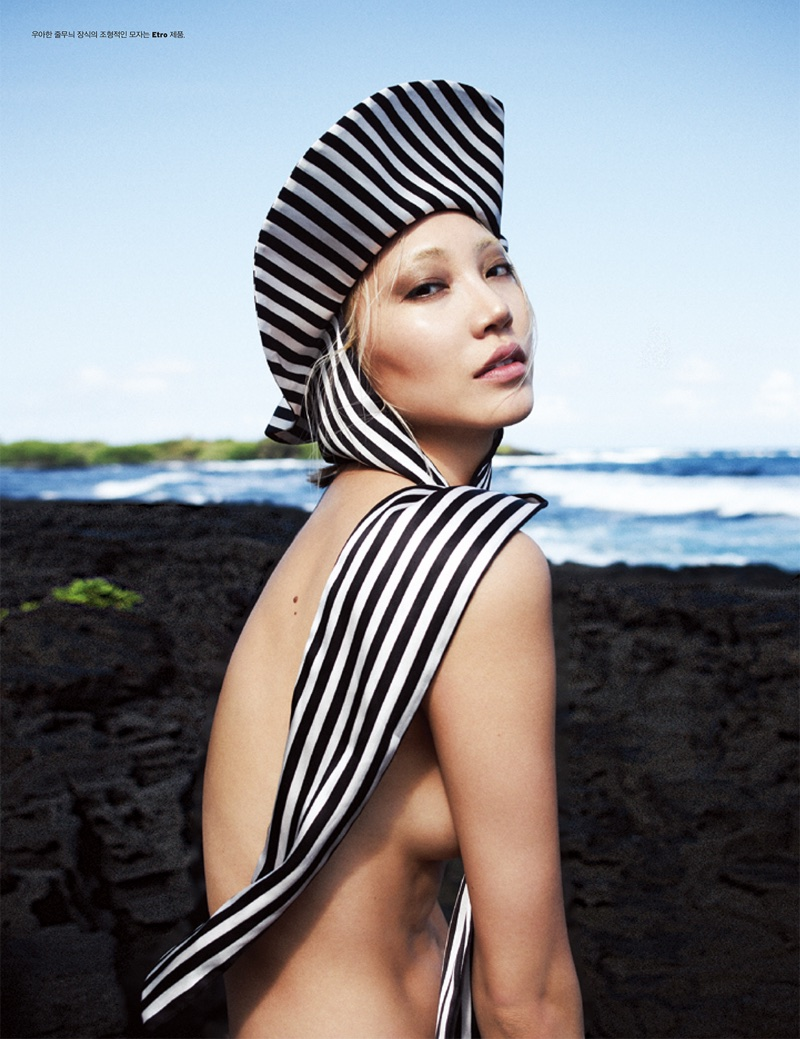 Soo Joo Park Wears Summer Styles in Hawaii for W Korea